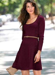 The Pointelle Dress - pinot noir-very pretty and feminine