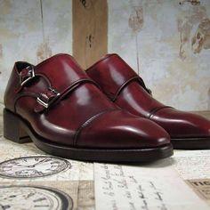 double monkstrap dress shoes for men bordeaux #menshoes #menstyle #fff #mensfashion