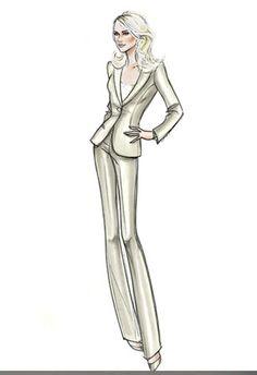 Giorgio Armanis sketch for Naomi Watts in Fair Game