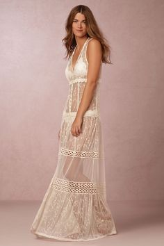 Riona Sheer Gown from @BHLDN -- LOOK. I WILL *FIND* AN OCCASION ALREADY. #AlteringMyLifestyleToSuitMyWardrobe