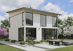 Glass House talo 143 / Kontio Good House, Glass House, 2nd Floor, House In The Woods, Log Homes, Living Area, Garage Doors, Villa, Flooring