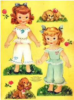 There were actually 4 paper dolls in this set... I still have mine!