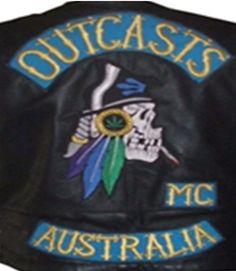 Outcasts MC - Respect Biker Clubs, Motorcycle Clubs, Outlaws Motorcycle Club, Bike Gang, Biker Patches, Colours, Rockers, Australia, Gangsters