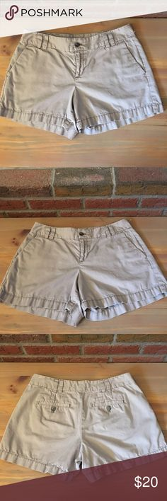 Light gray LOFT shorts Light ray Ann Taylor LOFT shorts. EUC!! Inseam is about 3 inches. Zipper and front button closure. Double belt buckle loops. 2 front pockets and 2 back pockets with button closure. LOFT Shorts