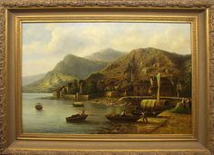 King's Gallery has this beautiful original signed oil painting on canvas by R. Hateman.