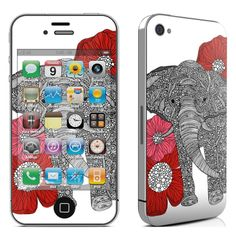 iPhone Sticker Skins | Decal Skin for Apple iPhone 4 - The Elephant