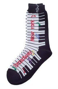 Broadway Socks (Ladies) Size: 9-11 by Gift House. $6.98. Walk around in style with these New York socks. Broadway theme cotton blend socks available in ladies size (9-11).