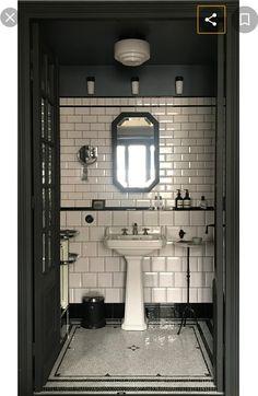 64 ideas apartment bathroom black subway tiles for 2019 Bathroom Tile Designs, Bathroom Floor Tiles, Bathroom Interior Design, Bathroom Ideas, Bathroom Marble, Marble Mosaic, Bathroom Organization, Mosaic Bathroom, Interior Office