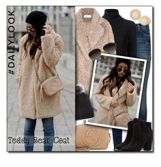 """""""#763 - Snuggle Up: Teddy Bear Coats"""" by lilmissmegan ❤ liked on Polyvore featuring J Brand, Gotha, Gucci, Kate Spade, Sole Society, Marc by Marc Jacobs and House of Harlow 1960"""