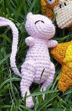 Ravelry: Mew Pokemon free pattern by Nichole's Nerdy Knots Fast Crochet, Cute Crochet, Crochet Dolls, Crotchet, Pokemon Crochet Pattern, Amigurumi Patterns, Crochet Patterns, Yarn Crafts, Fabric Crafts