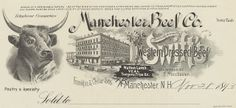 Manchester Beef Co. (Manchester, New Hampshire) 1893 a by peacay, via Flickr