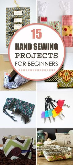 diytotry:  15 Easy Hand Sewing Projects For Beginners  http://ift.tt/2n9YzPe