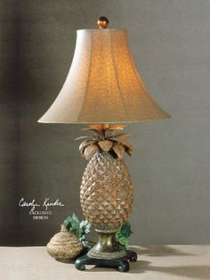 Anana Pineapple Lamp 27137 by Uttermost Lamps. Tropical Lamp for Island Inspired Home or Office. Free Shipping.