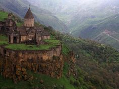 This Monastery in Armenia overlooks an incredible view.