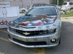 Military themed, custom painted Camaro SS.  Strength and Honor.  #Chevy #Camaro #paintjob #Military #Army
