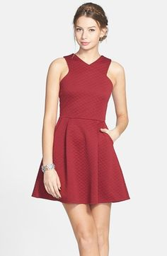 dee elle Quilted Skater Dress (Juniors) available at #Nordstrom