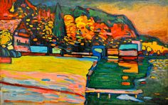 Wassily Kandinsky - Lake Starnberg, 1908 at Tate Modern Art Gallery London England by mbell1975, via Flickr