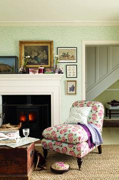 Emma Bridgewater Pomegranate Fabric/ Coral wallpaper
