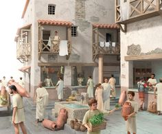 Rendering of daily life in Rome by Trebol Animation