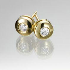 178e23432ff8 Pendientes de diamantes CHATON OA Pendientes de oro amarillo 1ª ley