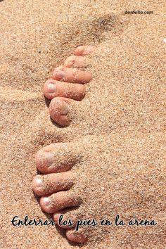 Enterrar los pies en la arena. #mehacefeliz