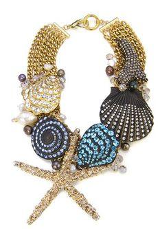 Badgley Mischka Diamond Reef Sea Life Necklace <3