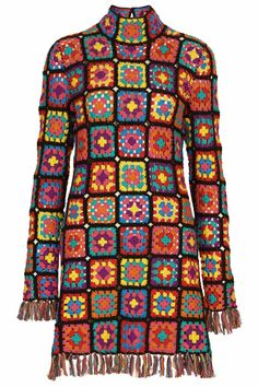 / granny square dress /