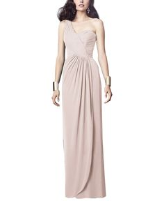 Stylist NotesThe three most flattering features for every woman: sweetheart neckline, great waistline and tasteful one shoulder. Skirt is a little slender so watch the hip measurement. -AmandaDescriptionDessy Collection Style 2905Full length bridesmaid dressOne shouldernecklineNatural waistLux chiffon