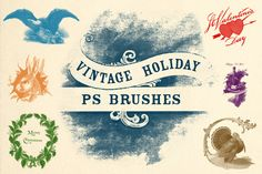 Vintage Holiday Brushes @creativework247