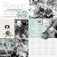Hello 2015 digital pocket scrapbooking page by Arumrose using This New Year (MPM Folio Add-on) by Sahlin Studio