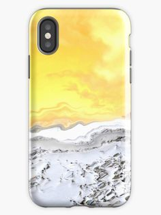 A sandy beach with orange sky, an artistic interpretation of nature and happy memories. Abstract art.Phone and pad cases. Orange Sky, New View, Iphone Case Covers, Iphone 11, Abstract Art, Memories, Beach, Happy, Nature
