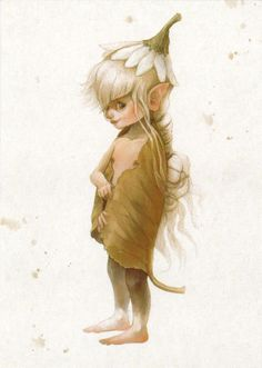 VERY RARE Elf Pixie with chamomile Fantasy Oxana Fomina Russian modern postcard | eBay