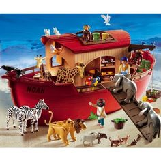 Playmobil 3255 Noah's Ark (810973016096) Please note: This item may ship in the original manufacturer shipping carton which contains Playmobil logos as well as a tiny picture of the item enclosed. Please consider shipping to an alternate address if this is a gift.