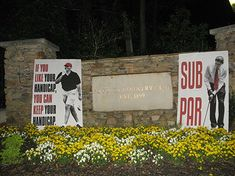 "More Political Street Art At Masters:  More political street art has surfaced and this time it is in Georgia. A familiar poster with an image of President Obama taking a putt above the words ""SUB PAR"" appeared in Augusta on Friday morning around the Masters Golf Tournament."