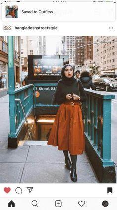 Ideas style hijab casual gendut style 765119424178576012 Ideas style hi… – Hijab Fashion 2020 Modern Hijab Fashion, Street Hijab Fashion, Muslim Fashion, Skirt Fashion, New Fashion, Retro Fashion, Trendy Fashion, Korean Fashion, Fashion Outfits