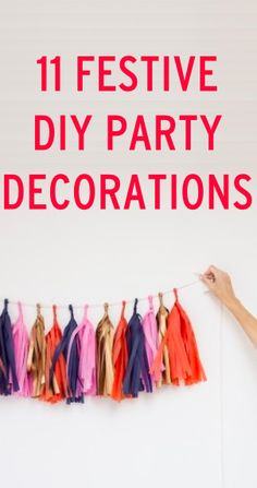 Party décor- 11 easy DIY decorations for your next party Craft Club, Diy Party Decorations, Do It Yourself Home, Holidays And Events, Party Planning, Party Time, Party Supplies, Easy Diy, Diys