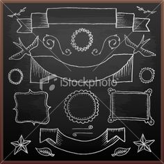 So...I am thinking about a chalkboard wall in the kitchen, but not sure if I can deal with NO structure and just scribbles....thinking this might help my OCD!