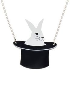 Rabbit in a Hat Necklace - Birthday 2014 Devine Love, Rabbit In A Hat, Laser Cut Jewelry, Tatty Devine, 15th Birthday, Personalized Necklace, Jewellery Box, Handmade Necklaces, Beautiful Necklaces