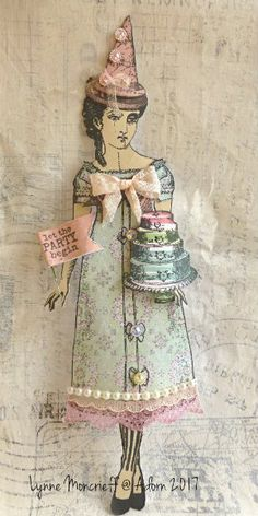 Let the Party Begin by Lynne Moncrieff working with Character Constructions art stamps.