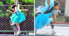 Little Brazilian Girl Goes Viral After Landing Unbelievable Tricks On Her Skateboard While Dressed As A Fairy Princess   Bored Panda