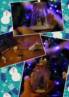 Boule de Noël + bougeoir