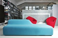 contemporary upholstered bench SEASON by Piero Lissoni Viccarbe