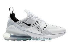 Homme Chaussure Officiel Nike Air Max 270 Blanc Noir AH8050-100 Nike Air Max Tn, Baskets, Basket Nike, Air Max 270, Yeezy, Nike Free, Site Officiel, Trainers, Air Jordans