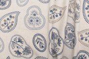 Dekorační látka- 319 111, obrazce v tečkovaném orámování, modré