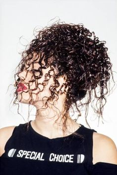 Red Lips and Hair Curls