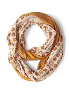 Peek of Pattern Circle Scarf Set in Buttons, #ModCloth