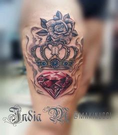 Crown-Tattoo-by-Makinucci-728x839.jpg (728×839)