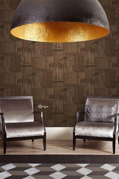 Matières, de nieuwe behangcollectie van Origin: geraffineerde hout, steen en metaal effecten - #behang #wallpaper #interieur #interior #inspiratie #inspiration