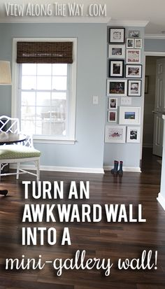 """Inspiration for a mini-gallery wall, and insight about """"decorating by the rules""""for wall in living room in corner by fan-dp My Living Room, Home And Living, Living Spaces, Inspiration Design, Decoration Inspiration, Decor Ideas, Diy Home Decor, Room Decor, Apartment Living"""