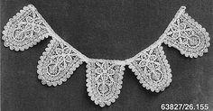 Collar, early 17th, bobbin lace, Genoa